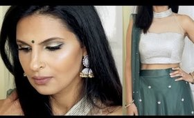 Eid/Indian/Asian Makeup Tutorial 2016 | Easy Gold and Green Eyes | Manisha Moments