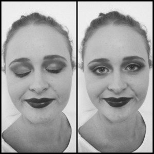 Makeup designed to work with black and white photography