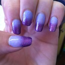 Gradient purple n glitter