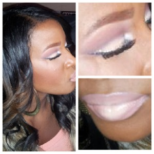 Cut crease eyes with a natural ombre` lip.