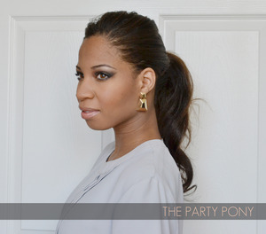 How to style a humped ponytail for your party! http://www.sparkandchemistry.com/10/post/2013/12/the-party-pony.html