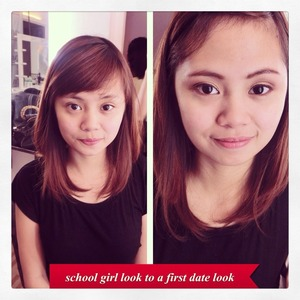 Simple, Fresh and Young Look  Benefit Cosmetics Brow Zings Nyx Lipstick Maybelline BB Cream Nyx Concealer Avon Mascara