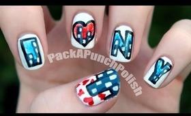 I Heart New York Nails : Nail Art Tutorial