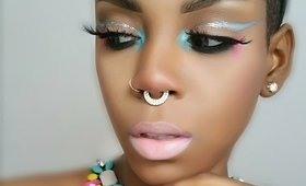 BOLD SILVER LINER WITH POPS OF COLOR