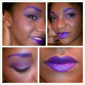 just trying something different ....lips are not lipstick just and eye shadow from a regular palette