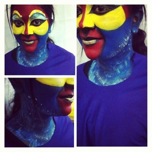Look created for a stage drama The Lion king