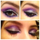 Purple & silver cut crease