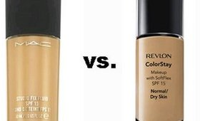 MAC  vs. Revlon foundation