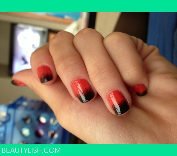 Black & Orange Halloween Nails | Dakota S.'s Photo ...