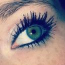 Silver eyeshadow, loreal telescopic mascara :*