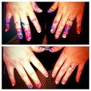 Yikes.... water marbling nail art!