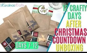 12 days of Crafty Countdown Swap Unboxing DAYS 7-12, 12 days of embellishment swaps unboxing days