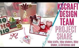 KScraft Design Team Project Share & giveaway! Valentines Day Shaker, Birthday Card Shaker & MORE