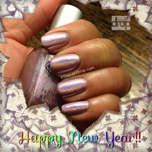 """Cloud Nine"" Holographic nail polish http://2thelastdrop.com/happy-new-year-on-cloud-nine/"