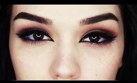 Bronze eyes with Arabic liner makeup