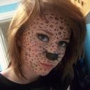 Full face leopard makeup