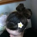 Bow with a flower