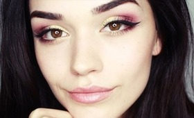 Gold and Fire makeup tutorial
