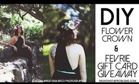 GIVEAWAY and DIY flower crown!