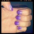 Purple Gradient Nails