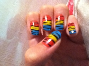 Colourful Tiger nails