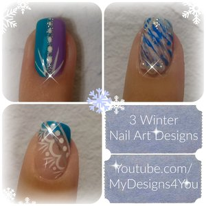 3 Winter Nail Art Designs