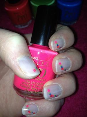 Cute colourful nails great for festival season