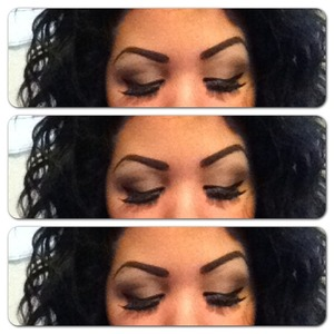 Simple blended browns with Ardell lashes.