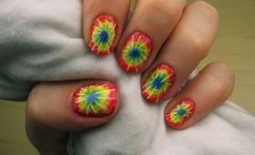 Easy Tie-Dye Nails