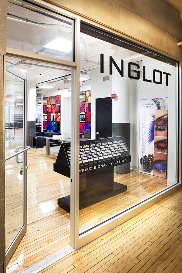 Inglot's store at Chelsea Market in NYC