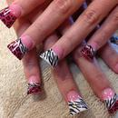 Animal Print Jersey Style Nails.