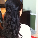 Half-down beachy waves..by Calista Brides Hair & Makeup Artistry