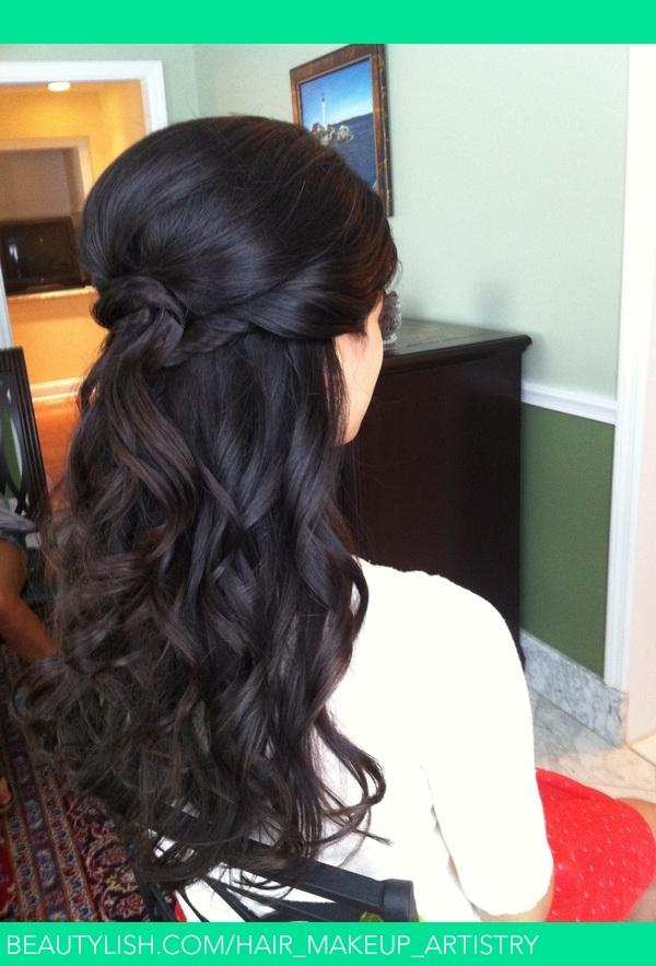 Half Down Beachy Waves By Calista Brides Hair Amp Makeup