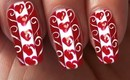 Valentine's Day Special 1/10 Love Hearts Nail Art Tutorial