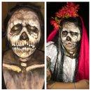 Skull bruja inspired makeup