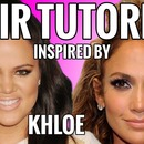 Hair Tutorial Inspired by Khloe Kardashian and JLO