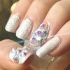 Luminous Marshmallow Wedding Nails