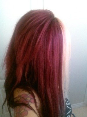 Red hair,blonde hair,sassy,dramatic,