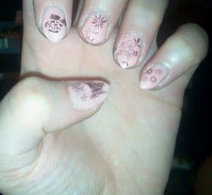 """NYX Girls Nail Polish in """"Nude Peach"""" OPI Nail Polish in """"Tease-y does it"""" OPI Top Coat"""