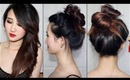 30 Second Messy Top Knot