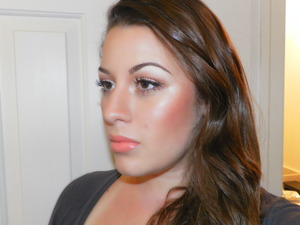 I love this look for brides :) it's super glowy and healthy and happy looking. I used Face and Body Foundation by MAC which photographs beautifully and I used a brand spankin' new Prolongwear Lipglass in Persistent Peach from MAC's new Collection Office Hours. Prologwears are heaven for weddings that go all day :)