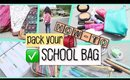 How-To: Pack Your School Bag 2016 + GIVEAWAY
