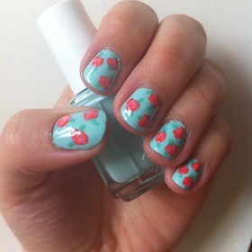 Cute Vintage Rose Nails