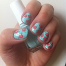 Cute vintage rose nails 4