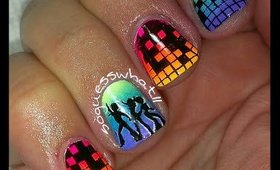 Disco Fever - a Soguesswhat11 nail tutorial