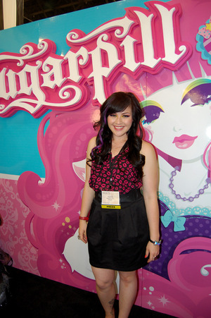 At the Sugarpill booth