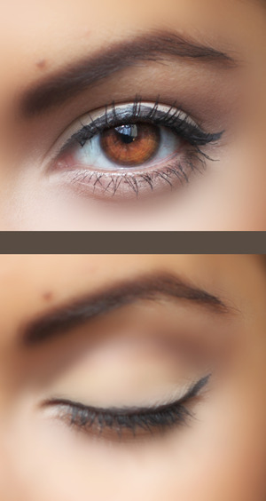 Eye look for today! Neutral with the NAKED 2 palette (: Foxy + Tease!