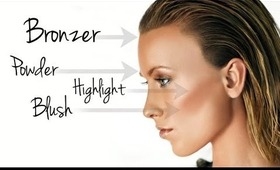 THE BASICS: POWDER, BRONZER, HIGHLIGHTER & BLUSH MAKEUP TUTORIAL
