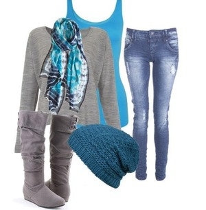 Everyday blue comfy an basic