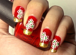 christmas nail art to watch video tutorial for this look, SUBSCRIBE free to my youtube nailart channel: www.youtube.com/nailartbynidhi